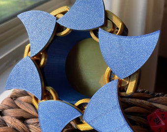 Talon Top Mechanical Dice Box - Blue and Gold