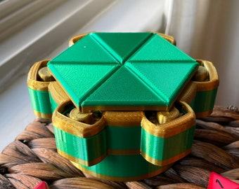 Mechanical Dice Box - Green and Gold
