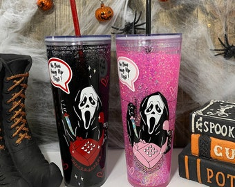 starbucks scream themed cup 24 oz | custom scream tumbler | no you hang up first tumbler | custom cups