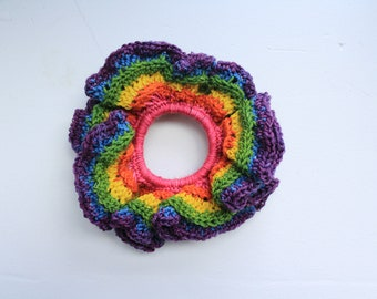 Pride Scrunchie | Rainbow Scrunchie | Handmade | Hair Tie | Charity | LGBTQI2S