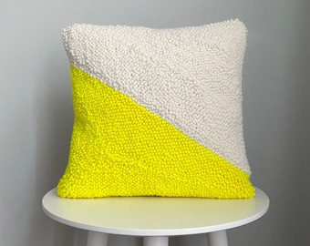 Punch Needle Pillow Cover | Geometric | Square