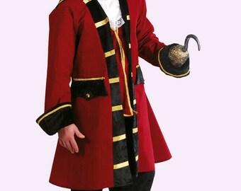 NEVERLAND CAPTAIN HOOK PIRATE PETER PAN ADULT MENS FANCY DRESS HALLOWEEN COSTUME