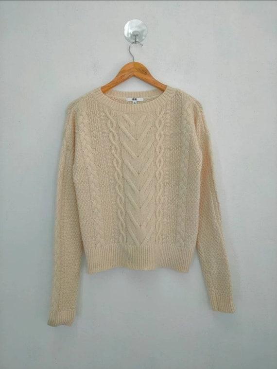 Uniqlo cable aran isle knit vintage cable knitwea… - image 1