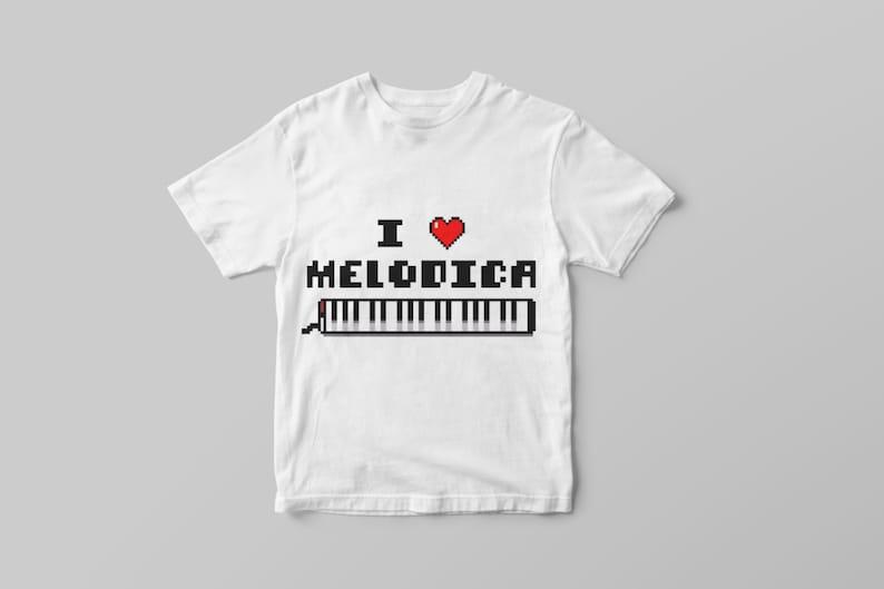 I Heart Melodica Pixel Art T-Shirt image 0
