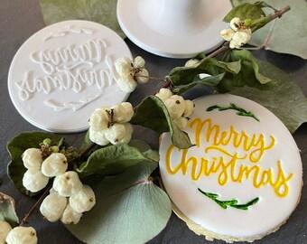 Cookie Stamp- Fondant Stamp- Christmas- Christmas Stamp- Christmas Cookies- Cookie Cutter- Personalized Cookies