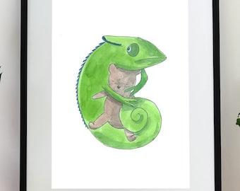 Custom Watercolor Illustration printable