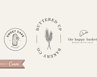 PreMade Bakery Logo Design (MULTIPLE), Bakery Branding; Vintage Bakery Logo; Simple Logo; Hand Drawn Bakery Logo