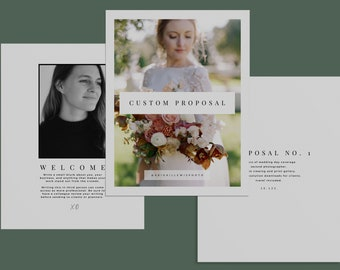 Wedding Photography Pricing List Guide Template Pricing Sheet Price List Photographer Price Guide Pamphlet; CANVA CV Template Modern