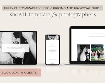Showit Website Pricing Guide Template; Photographer Price List Template, Simple Showit Theme, Photographer Website, Pricing; Wordpress Theme