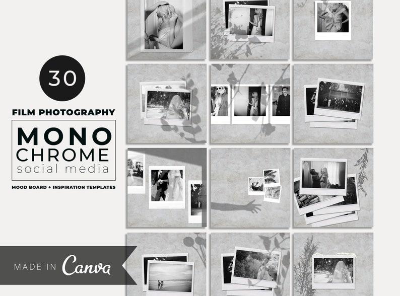 Neutral Instagram Template Polaroid Template Mood Board image 1