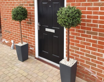 Artificial Buxus Boxwood Single Ball Tree, Outdoor, UV Resistant, 1.2m & 1.5m