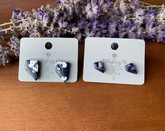 Battle Born Studs, Blue and Silver Nevada Studs