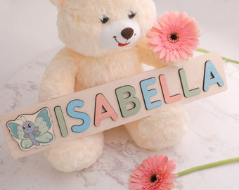 1st Birthday Gift Name Puzzle Personalized Personalized Name Wood Puzzle Handmade Toy Boy Newborn Girl Baby Gift Custom Name Baby