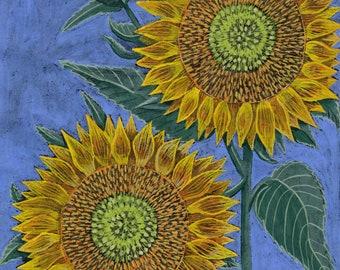 Yellow Green Sunflower