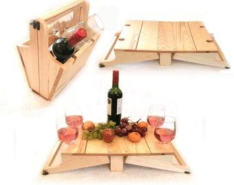 Mini picnic table / wine basket carrier