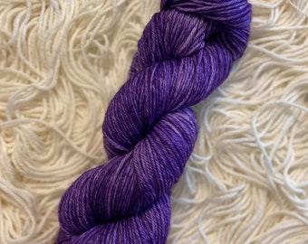 Purple Wall |Disney Inspired Yarn| 100g Sock Weight, 100g DK Weight, 20g Sock Weight| Purple Tonal Yarn