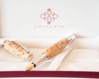 Füller aus Holz - Karelische Maserbirke - Gentleman