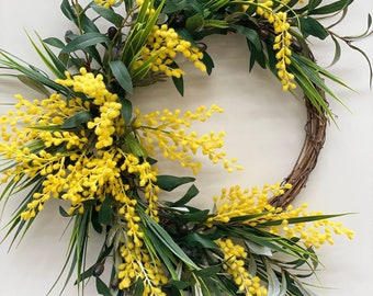Yellow wattle Wreath