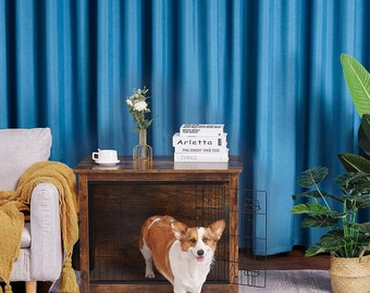 Wooden Crate End Table, Dog Furniture, Indoor Pet Crate Dog Kennel