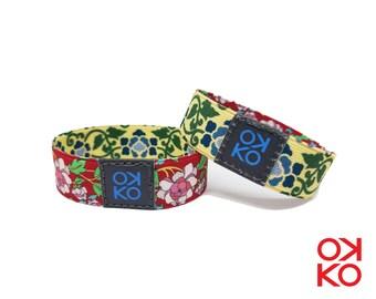 17 - Floral, bracelet, bracelet, made in Italy