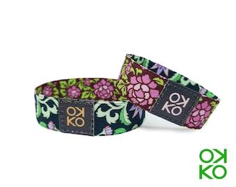 18 - Floral, bracelet, bracelet, made in Italy
