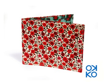 17 - Roses, roses, nature, tyvek wallet OKKO, wallet, gift, gift, greetings, made in italy, crafts