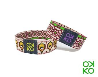 40 - Floral decoration, bracelet, bracelet, made in Italy