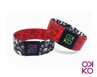 56 - Skulls, bracelet, bracelet, made in Italy