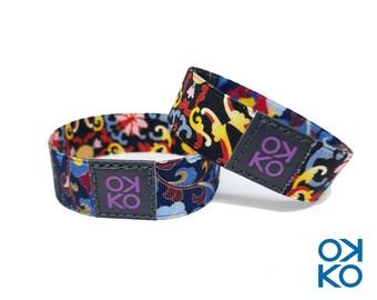 19 - Floral, bracelet, bracelet, made in Italy