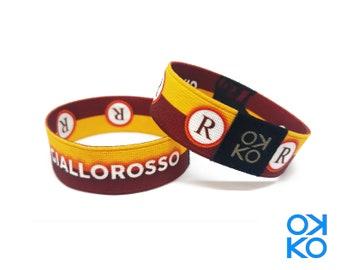 54 - Giallorosso, bracelet, bracelet, made in Italy