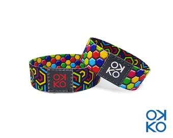 35 - Mosaic, bracelet, bracelet, made in Italy
