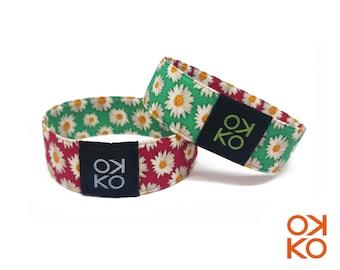 46 - Daisies, bracelet, bracelet, made in Italy
