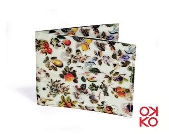01 - Fruit, OKKO tyvek wallet, wallet, gift, gift, greetings, made in italy, crafts