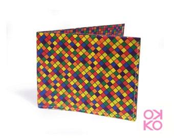 16 - Mosaico, mosaic, nature, tyvek wallet OKKO, wallet, gift, gift, auguri, made in italy, craftsmanship