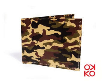 06 - Camouflage, camouflage, military, tyvek wallet OKKO, wallet, gift, gift, auguri, made in italy, crafts