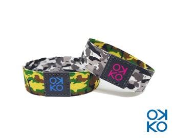09 - Camouflage, bracelet, bracelet, made in Italy