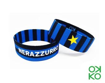 49 - Nerazzurri, bracelet, bracelet, made in Italy