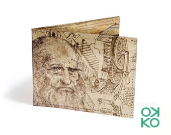 10 - Leonardo, OKKO tyvek wallet, wallet, gift, gift, greetings, made in italy, craftsmanship