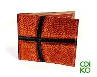 12 - Basket, basketball, soccer, portafoglio in tyvek OKKO, wallet, gift, regalo, auguri, made in italy, artigianato