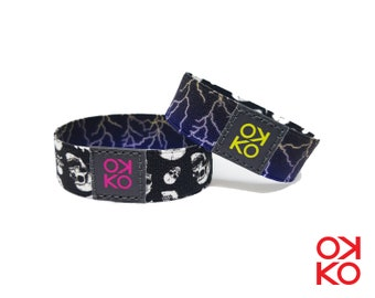 12 - Skulls, bracelet, bracelet, made in Italy