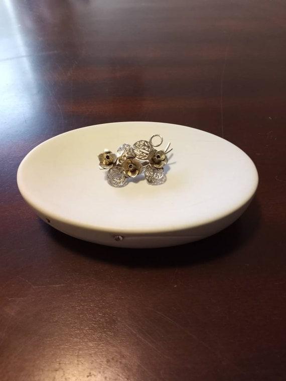 Vintage Art Deco Silver Rose Brooch