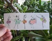 Ballerina Succulents Sticker