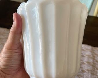 Vintage milk glass vase vintage milk glass vintage white vase