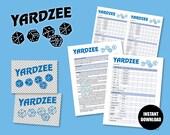 Yardzee SVG, Printable Yardzee score card Game rules Digital logo, DIY Yardzee, PDF Score Sheet, Yathzee, Yard Games, Lawn Games