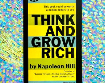 5th Printing Think And Grow Rich by Napoleon Hill (Crest Paperback, 1962)