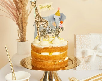 Party Animal Cake Topper Set, Safari Party Cake Topper, Wild One Cake Decorations, Jungle Animal Party Decorations, first birthday