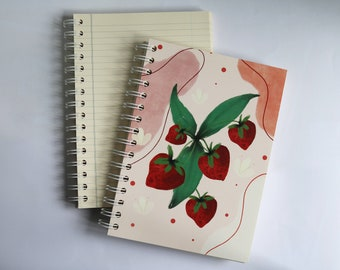 strawberry SCENTED A5 NOTEBOOK, luxury aromatherapy JOURNAL, unique gift ideas