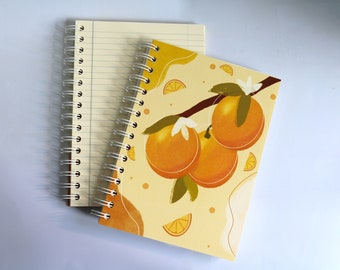 orange  SCENTED A5 NOTEBOOK, luxury aromatherapy JOURNAL, unique gift ideas