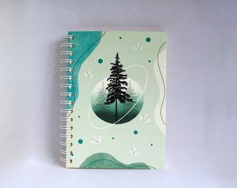 Forrest/ Pine  SCENTED A5 NOTEBOOK, luxury aromatherapy JOURNAL, unique gift ideas