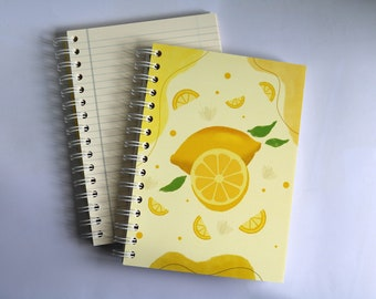 lemon  SCENTED A5 NOTEBOOK, luxury aromatherapy JOURNAL, unique gift ideas